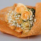 Салфетка для декора и цветов квадратная 48х48 см оранжевый