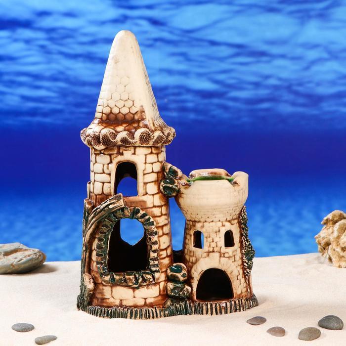 """Декорации для аквариума """"Замок с башней"""""""
