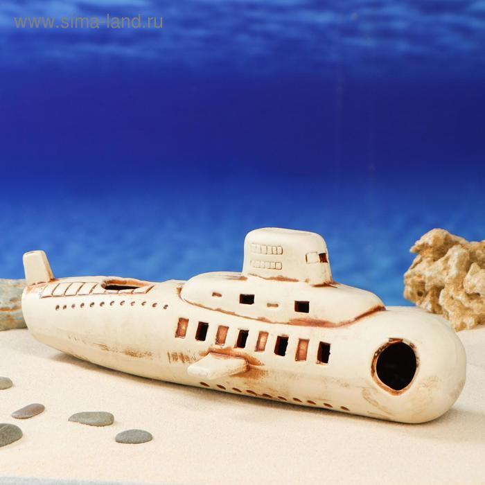 """Декорации для аквариума """"Подводная лодка"""""""