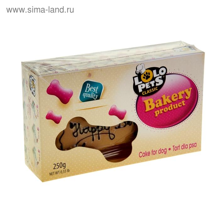 """Торт для собак LoLo Pets орехово-шоколадный с надписью """"С днем рождения!"""""""