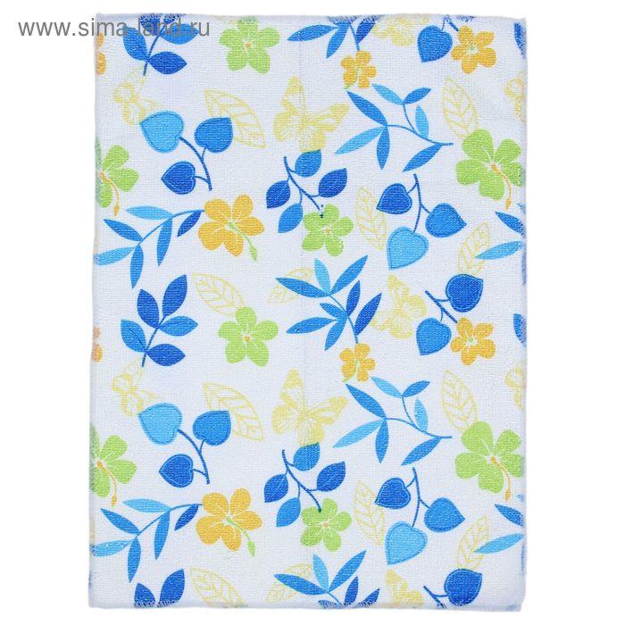 """Салфетка для уборки """"Полевые цветочки"""", NAP-210, 30х40 см, микс цвета"""