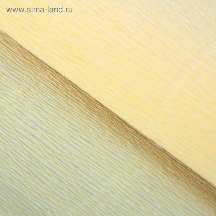 Бумага гофрированная 577 лимонно-кремовая, 50 см х 2,5 м