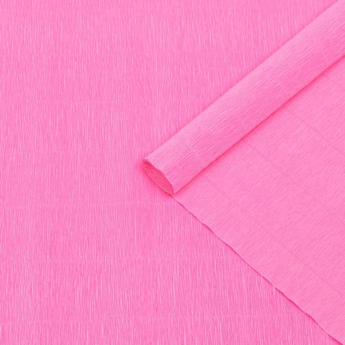 Бумага гофрированная 554 розовая, 50 см х 2,5 м