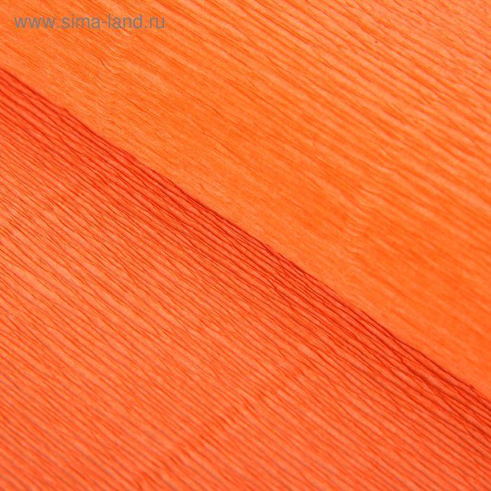 Бумага гофрированная 581 оранжевая, 50 см х 2,5 м