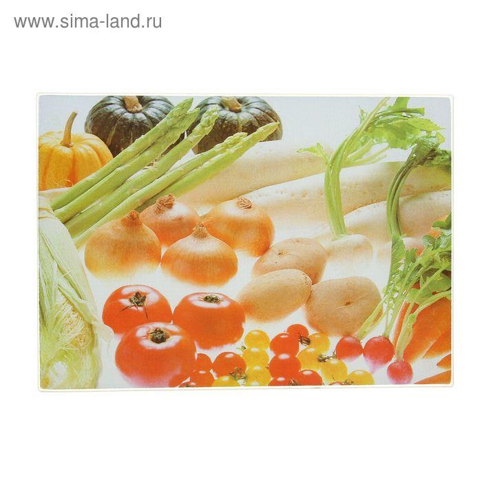 """Доска разделочная 35х25 см """"Полезные овощи"""""""
