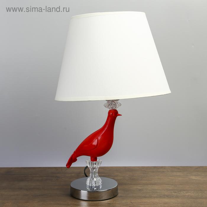 """Лампа настольная """"Красная колибри"""""""
