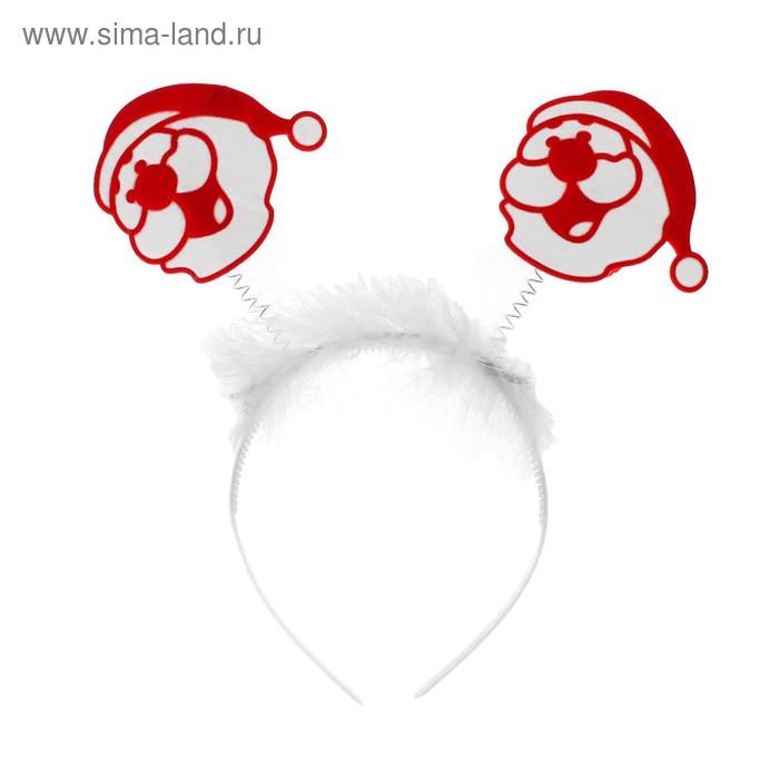 """Карнавальный ободок """"Дед мороз"""""""