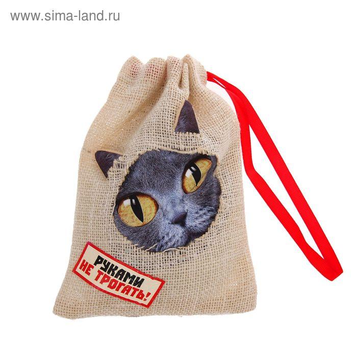 """Прикол кот в мешке """"Руками не трогать"""", + звуковой элемент"""