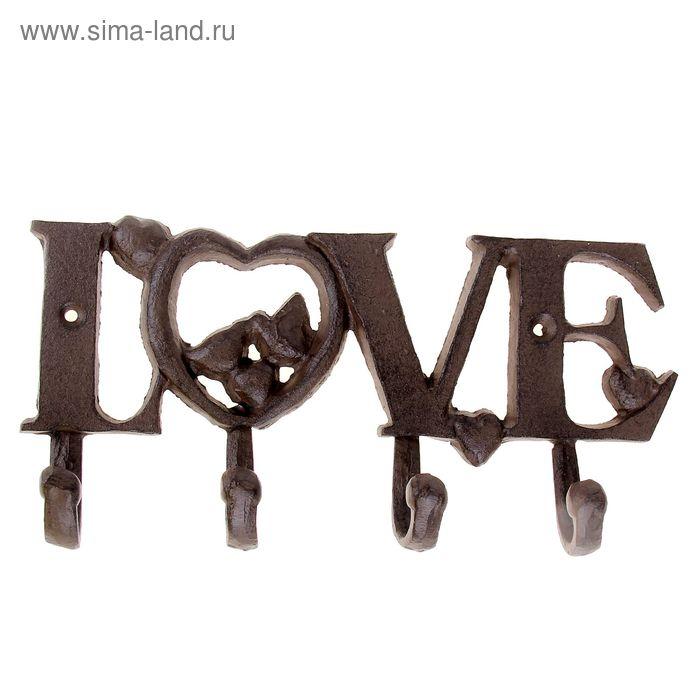 Крючки декоративные Love 25,7х1,8х11,7 см
