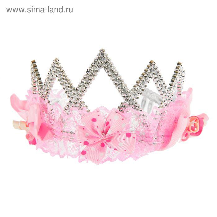 """Корона с кружевами и цветами """"Милашка"""""""