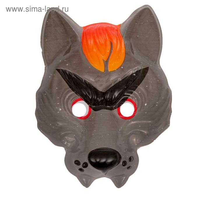 """Карнавальная маска """"Серый волк"""" на резинке"""