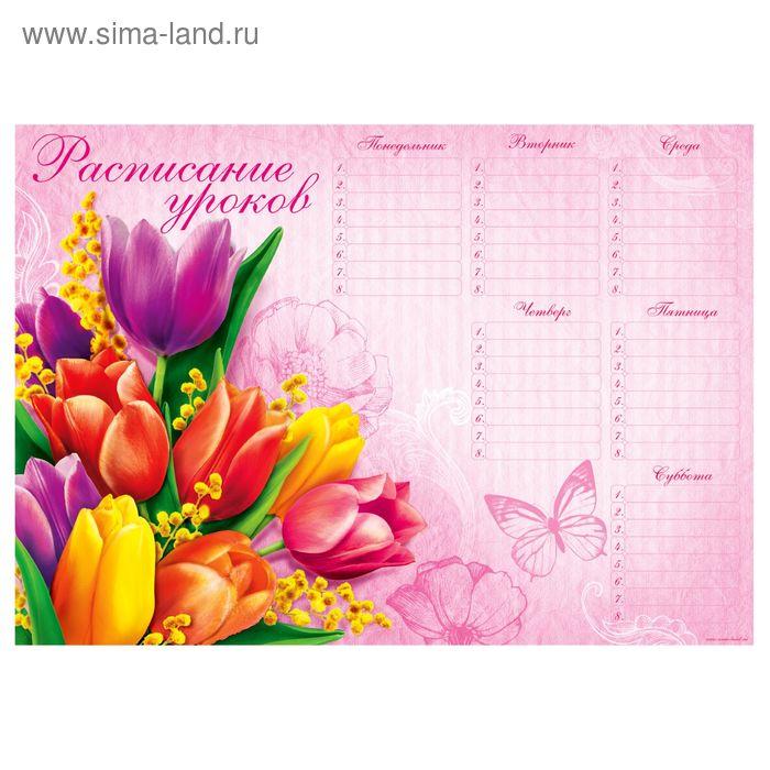 """Расписание занятий А4 """"Цветы"""""""