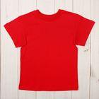Футболка детская, рост 98 см, цвет красный Н004