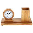 Набор настольный «Дерево»: часы, подставка для ручек с фоторамкой