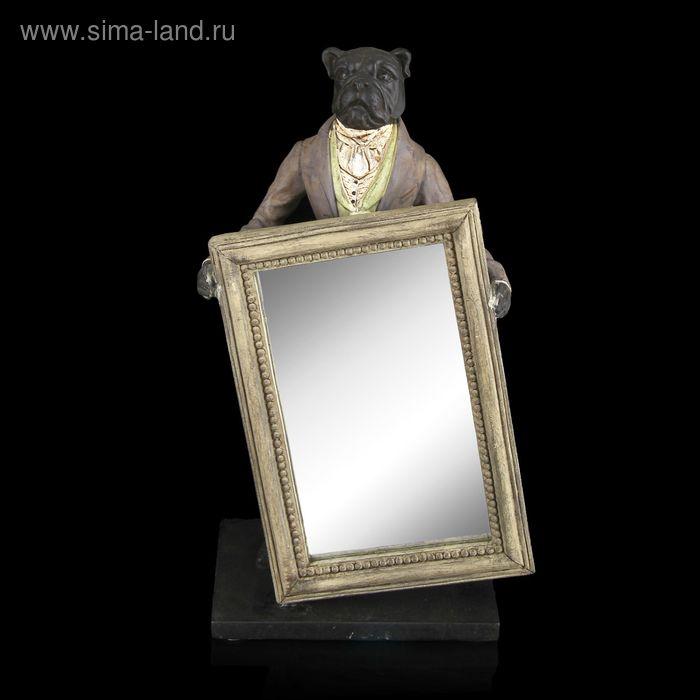"""Сувенир """"Бульдог"""" с зеркалом"""