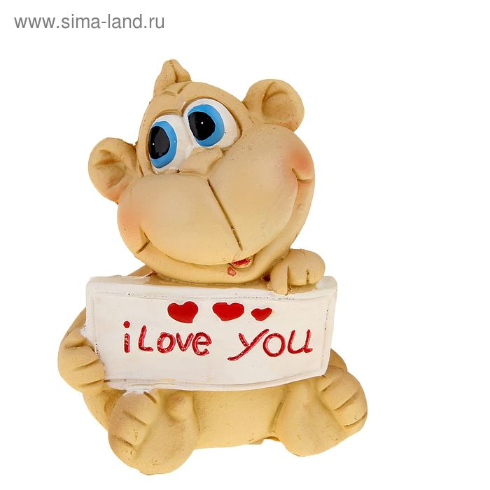"""Сувенир """"Обезьянка с признанием """"I love you"""""""