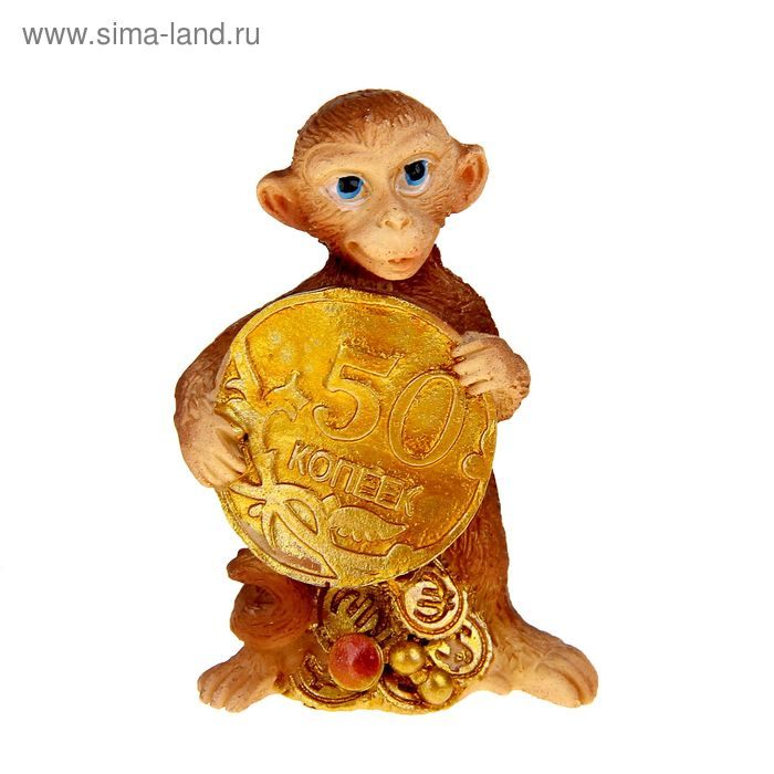 "Сувенир ""Кроха обезьянка с рублём"" МИКС"