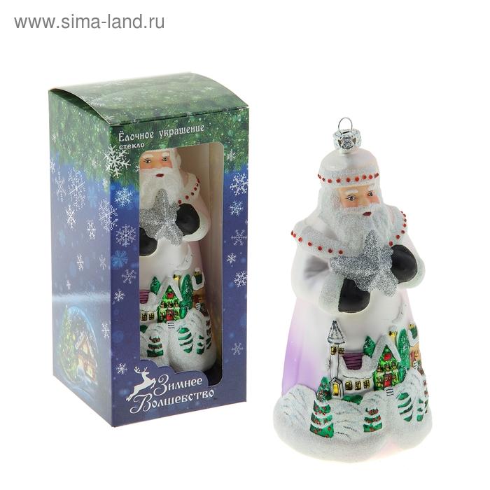 """Новогодняя игрушка """"Дед Мороз"""" (зимний город)"""