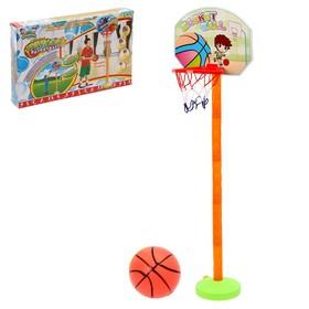"""Баскетбольный набор """"Принц"""", регулируемая стойка с щитом (4 высоты: 28,5см/57см/85,5см/114см), сетка, мяч d=10 см, р-р щита 34х25 см"""