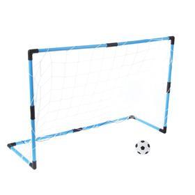 """Ворота футбольные """"Весёлый футбол"""", сетка, мяч d=14 см, размер ворот 98х34х64 см"""