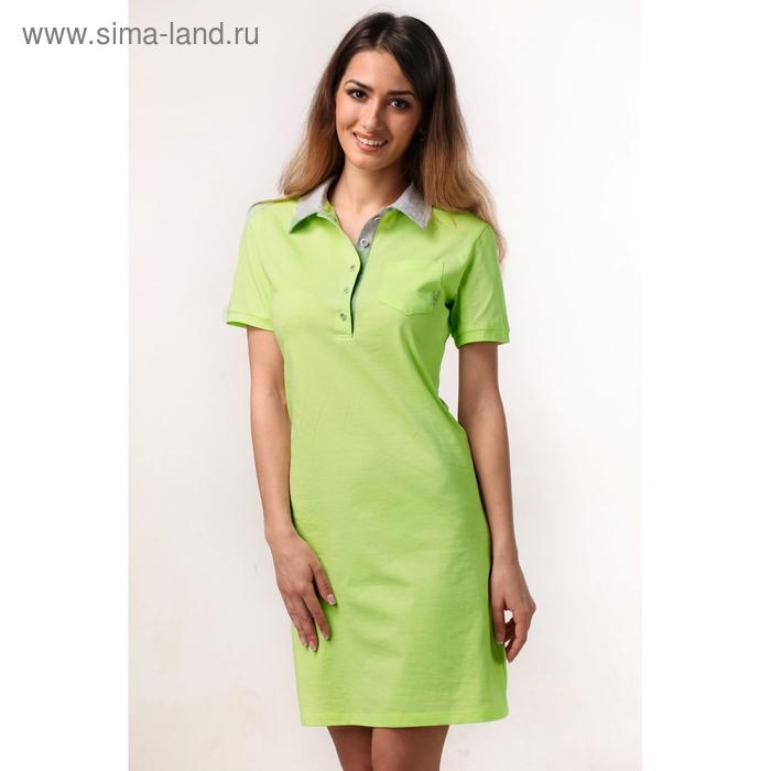 """Платье женское """"поло"""" М-721-09 салат, р-р 46"""