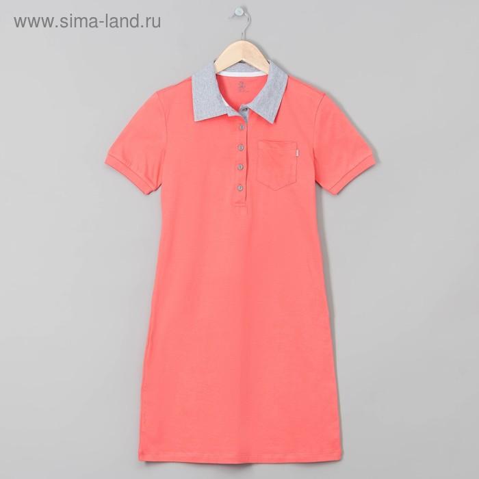"""Платье женское """"поло"""" М-721-09 коралл, р-р 50"""