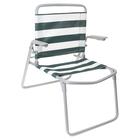 Кресло-шезлонг складное  ткань ПВХ, размер 730x570x640 мм,  цвет зелено-белый  К1