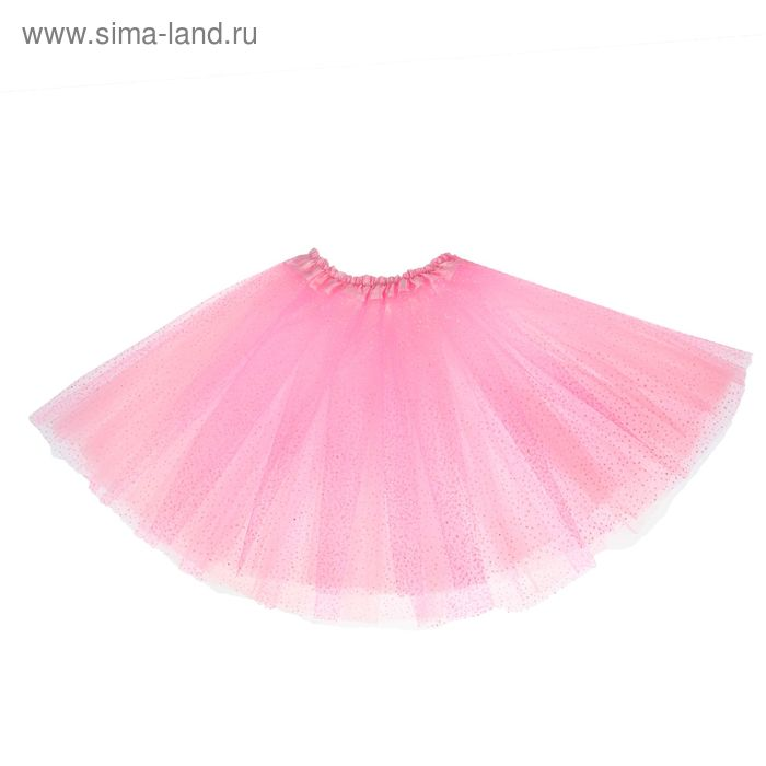 Карнавальная юбка 3-х слойная 4-6 лет, цвет светло - розовый