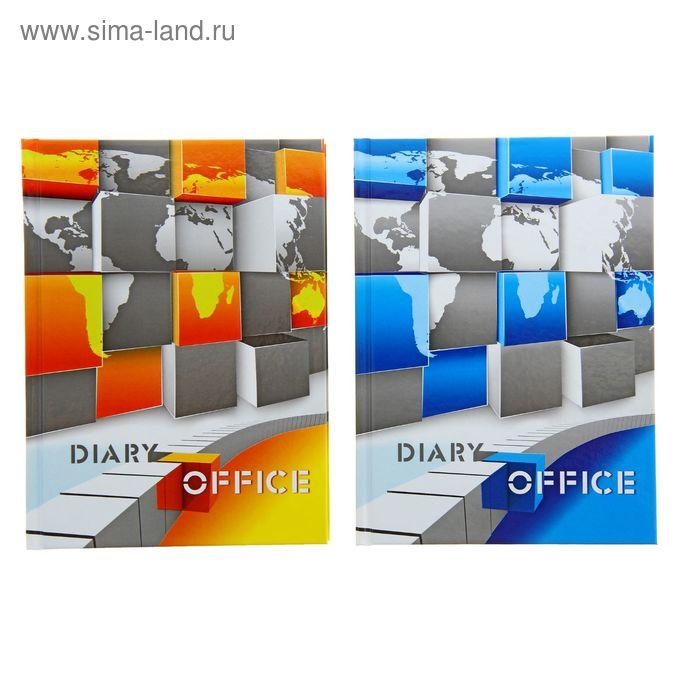 Ежедневник недатированный А6, 160 листов, World office, глянцевая ламинация, МИКС
