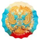 Герб круглый триколор, золото