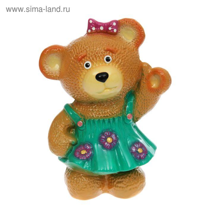 """Копилка """"Медведица в платье"""" глянец, микс"""