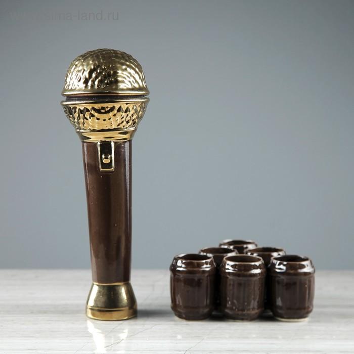 "Штоф с рюмками ""Микрофон"" 7 предметов, 0,5 л/ 0,05 л"