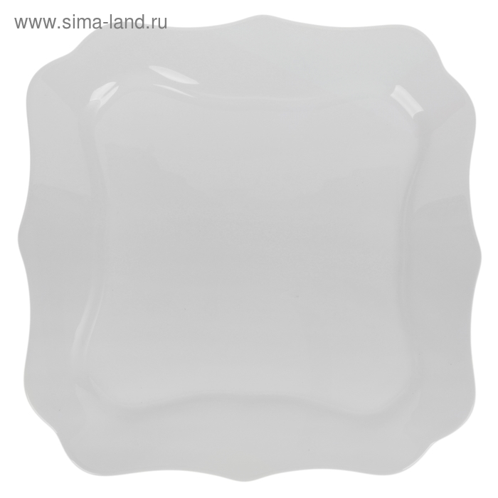 "Тарелка обеденная 25,5 см ""Аутентик"", цвет белый"