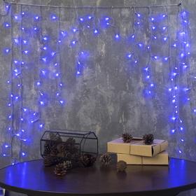 """Гирлянда """"Бахрома"""" Арка, Ш:1 м, В:1 м, Н.С. LED-126-220V, контр. 8 р. СИНИЙ"""