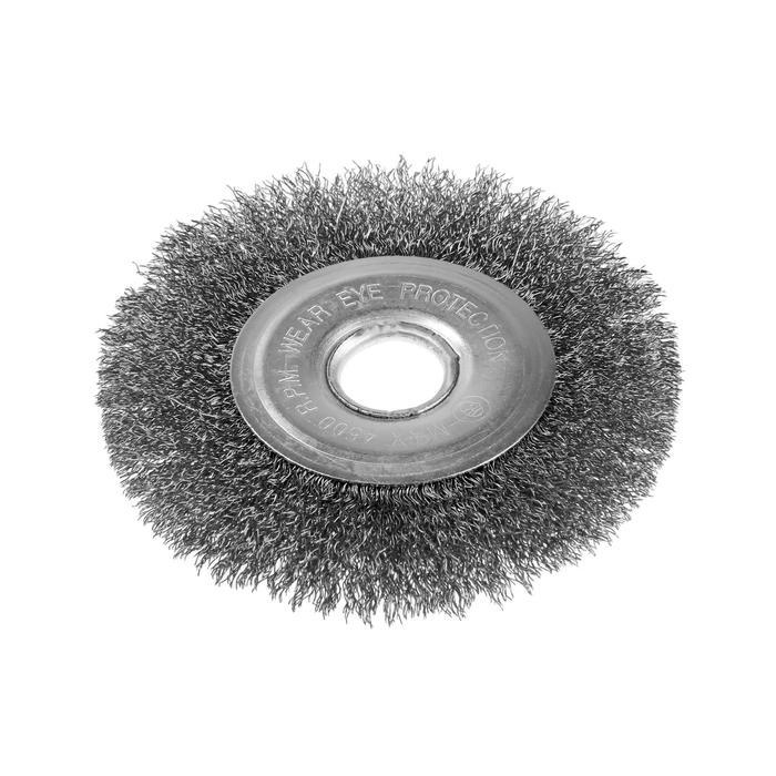"""Щетка металлическая TUNDRA, для УШМ """"плоская"""" 22,2 мм, 125 мм"""