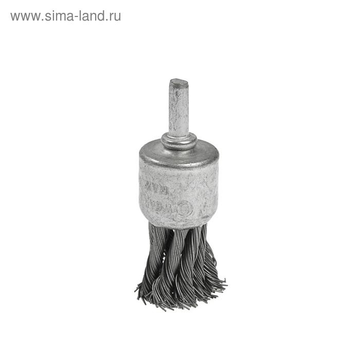 """Щетка металлическая TUNDRA, для дрели со шпилькой крученая """"чашка"""" 17 мм"""