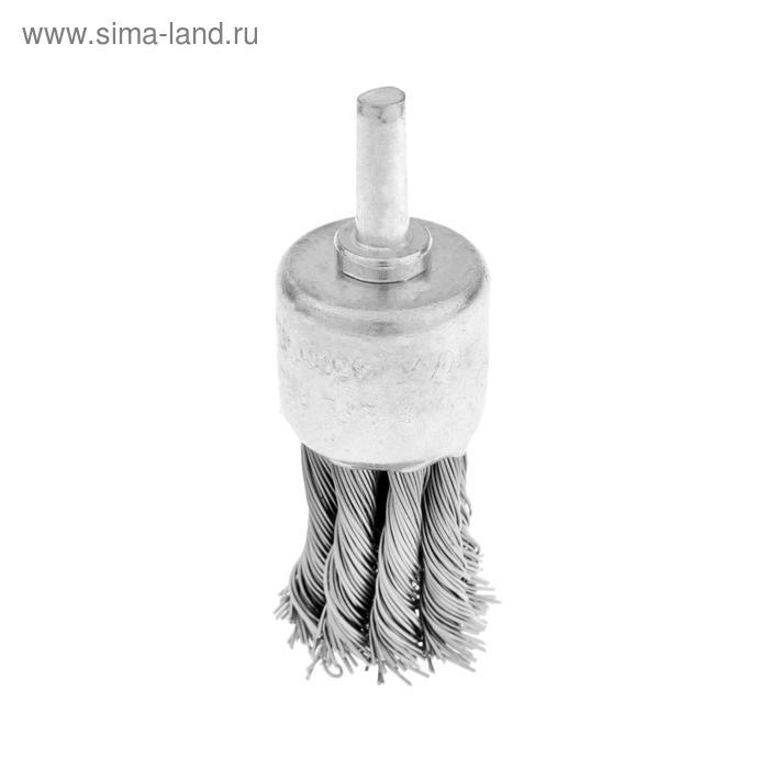 """Щетка металлическая TUNDRA, для дрели со шпилькой крученая """"чашка"""" 25 мм"""