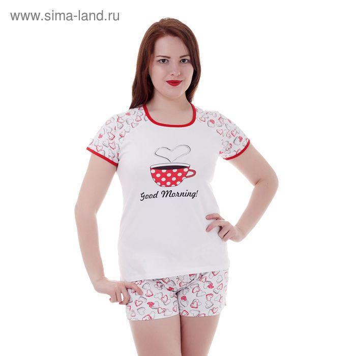 Пижама женская (футболка, шорты) W GM105, р-р 46