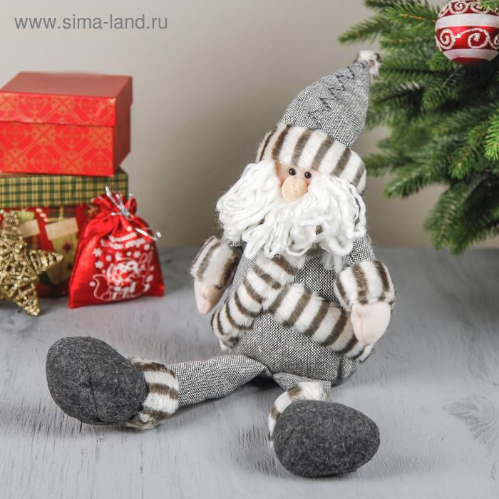"""Мягкая игрушка """"Дед Мороз в серой шубке"""" (длинные ножки)"""