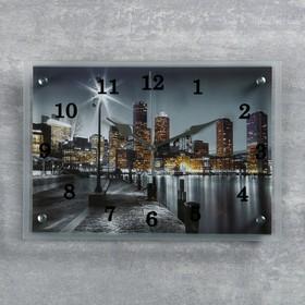 "Часы настенные прямоугольные ""Набережная"", 25х35 см микс"