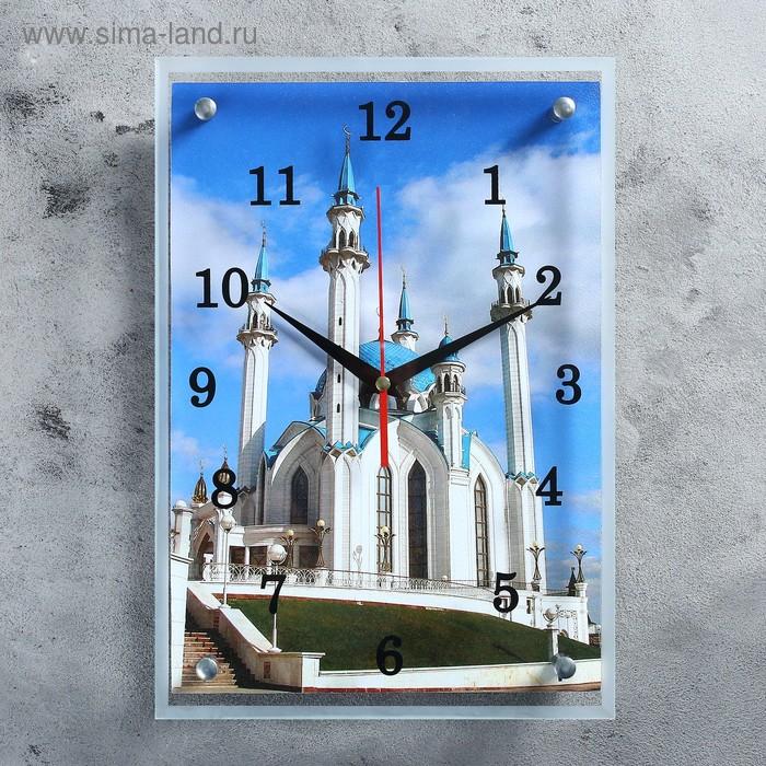 """Часы настенные прямоугольные """"Мечеть Кул Шариф"""", 25х35 см микс"""