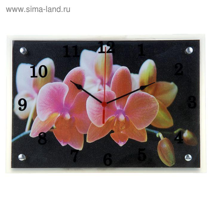 """Часы настенные прямоугольные """"Цветы"""", 25х35 см"""