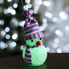 "Игрушка световая ""Снеговик"" (батарейки в комплекте) 6х13 см, 1 LED RGB, ФИОЛЕТ"