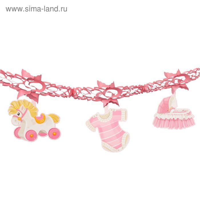 """Гирлянда """"Новорожденный"""", цвет розовый"""