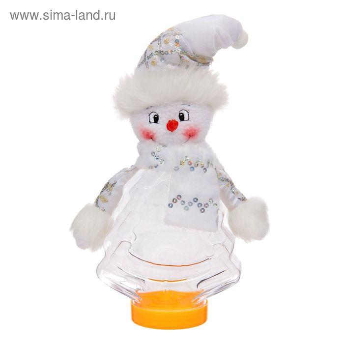 """Подарочная упаковка """"Снеговичок с шарфиком"""", 320 г"""