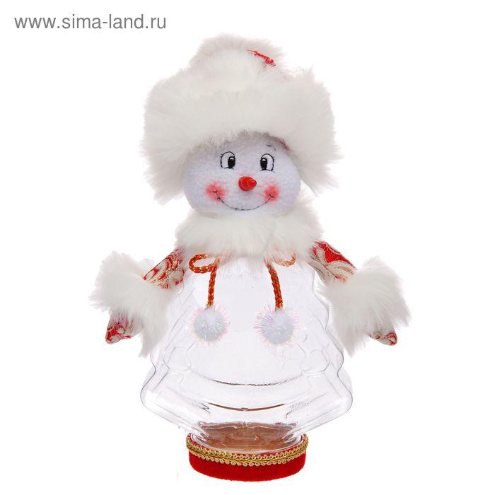 """Подарочная упаковка """"Снеговик с бантиком"""", 320 г"""