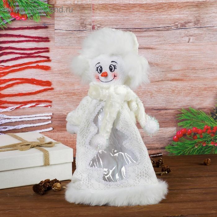 """Подарочная упаковка """"Снеговик"""", красный нос, 800 г"""