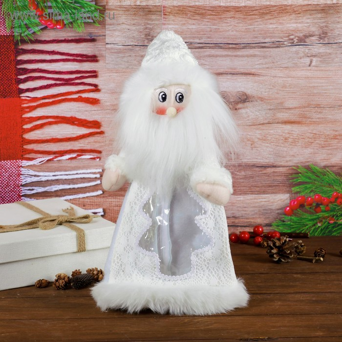 """Подарочная упаковка """"Дед Мороз"""", мохнатая борода, 800 г"""