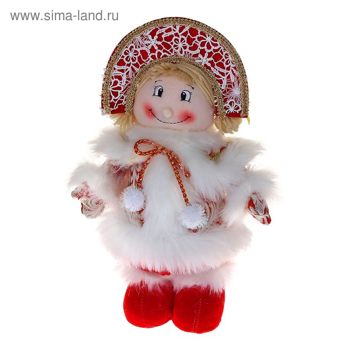 "Мягкая игрушка ""Снегурочка"" (кружевная, красная)"