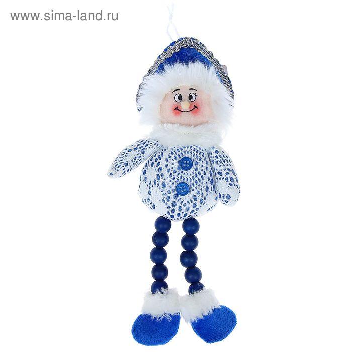 """Мягкая игрушка """"Снегурочка"""" (бело-синяя, кружевная)"""